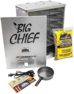 Big Chief electric smoker with front load