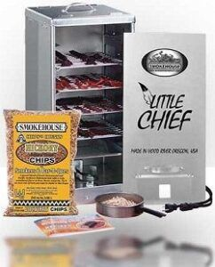 Little Chief electric smoker with top load