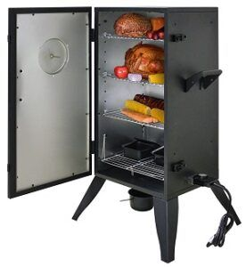 MOKE HOLLOW 30162E 30INCH ELECTRIC SMOKER WITH ANALOG ADJUSTABLE TEMPERATURE CONTROL