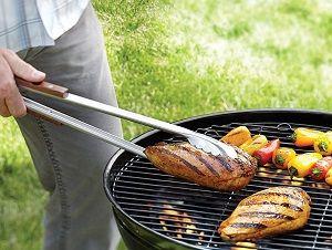 Long grilling tongs