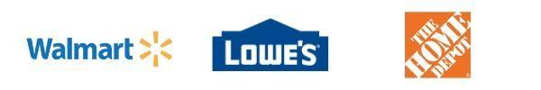 walmart lowes home depot logos