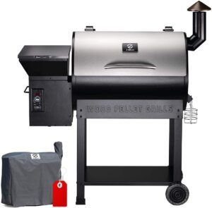 ZPG-7002E 8 in 1 Wood Pellet Grill and BBQ Smoker by Z GRILLS