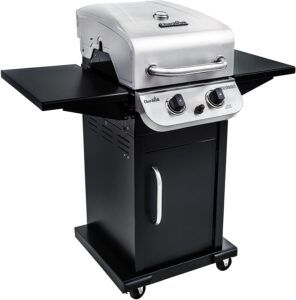 Char-Broil 463673519 Performance Series 2-Burner Cabinet Liquid Propane Gas Grill, Stainless Steel