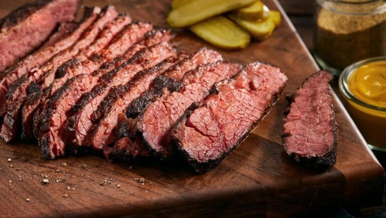 smoking corned beef
