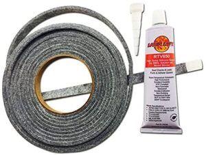 BBQ gasket & adhesive smoker lid door tape