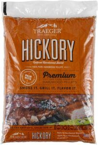 Traeger PEL319 Hickory Natural Hardwood Grill Pellets