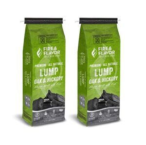 Fire & Flavor Premium Oak And Hickory Lump Charcoal
