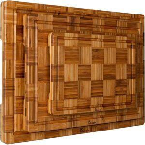 Kikcoin Extra Large Bamboo Cutting Boards