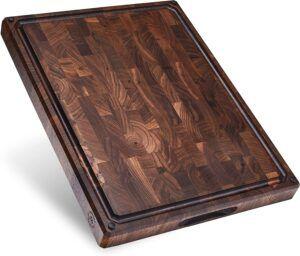 Large End Grain Walnut Wood Cutting Board