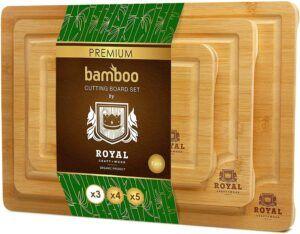Royal craft wood organic bamboo cutting board