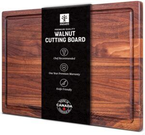 Walnut Cutting Board by Mevell, Handmade in Canada